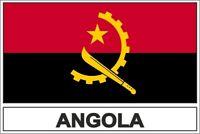 Sticker flag vinyl country  ANG angola