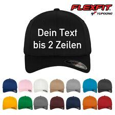 Original-Flexfit Basecap, Baseball Cap mit Wunschtext oder Namen bestickt