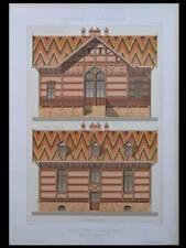 GARE DU CHAMP DE MARS, GARE LISCH - 1881 - GRANDE LITHOGRAPHIE - BUFFET