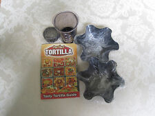 Nonstick Tortilla Bowl Makers, Set of 2 And Handy Helper Cut N Cup Slicer & Dice