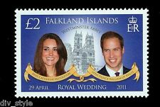 William & Kate Royal Wedding Falkland Islands mnh stamp