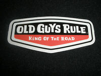 "OLD GUYS RULE "" KING OF THE ROAD "" MOTORHOME TRAILER SURF BEACH DECAL STICKER"