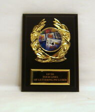 POKER HAND CARD PLAQUE 5 X 7 TEXAS HOLD'EM PLAQUE COLORFUL CARD HAND INSERT
