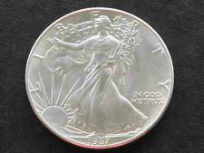 1987 Liberty Walking American Silver Eagle Dollar Coin