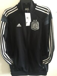 Adidas Argentina 2014 Anthem Track Top Jacket Black Grey Size Small Men's Only