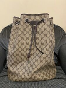 GUCCI Supreme Drawstring Backpack GG Monogram Authentic, No Res!