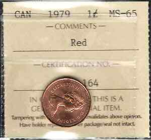 1979 Small Cent ICCS Certified MS-65 RED GEM ** STUNNING Graded Canada Penny