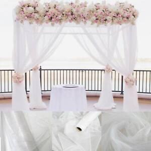 80M Tulle Roll Sheer Crystal Organza Fabric Birthday Event Party Wedding DecorAU