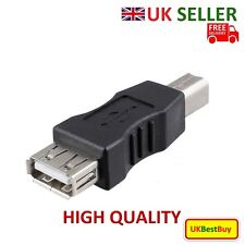 New USB 2.0 Adapter USB A Female to B Type B Male Plug Extend Printer Cable - UK