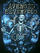 AVENGED SEVENFOLD CONCERT T SHIRT Nightmare After Christmas 2011 Tour Cities S