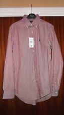 Ralph Lauren Shirt Long Sleeved 15.5 collar Small Size red stripe BNWT RRP £85