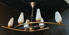 Lustre Vintage 1950s 6 bras, MID CENTURY Ceiling Light