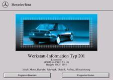 Mercedes Benz W 201- Wis 201 Werkstatthandbuch- Reparaturhandbuch auf CD