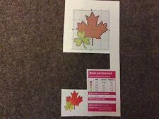 mini Canadian maple & Irish shamrock cross stitch chart only m10