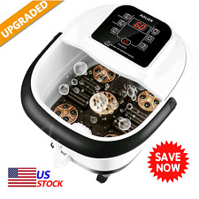 Aolier Foot Spa Bath Massager Massage Rollers Heat and Bubbles Temp Timer,Usa *