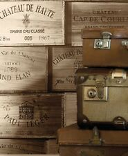 EUR 2,81/qm /GranDeco Tapete Exposed  PE-11-01-1 Weinkisten/ Holzoptik Vintage