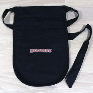*NEW* Authentic HOOTERS Girl Uniform Dress Up Costume Money Ticket POUCH BLACK