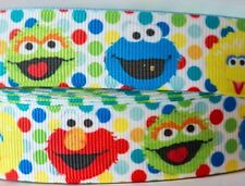 1m X 22mm Grosgrain Ribbon Craft DIY Cake Decorations Hair Bows - Sesame Street
