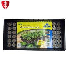 Seedling Seed Starter Tray Kit Plant Labels Garden Outdoor Pellet Propagation