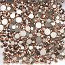 ROSE GOLD Swarovski crystals flat back stones gems rhinestone non hotfix
