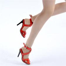 Sherry 1/6 Scale Phicen Hot Toys Kumik ZC NT Female red Gladiator Sandal Shoes
