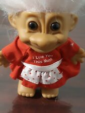 """Valentine I Love You This Much Girl - 5"""" Russ Troll Doll"""