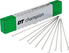 2 x DT Swiss Champion Spokes, SILVER, +Nipples Custom Cut 150-314mm