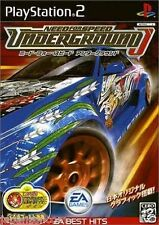 Used PS2  Need for Speed Underground  SONY PLAYSTATION JAPAN IMPORT