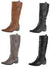 Damenschuhe mit Blockabsatz im Kniehohe Stiefel-Stil für Mittlerer Absatz (3-5 cm)