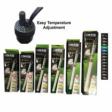 More details for hidom aquarium heater submersible fish tank heating + free thermometer