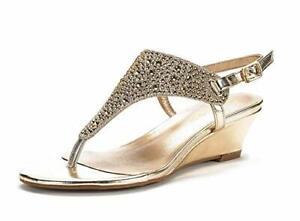 DREAM PAIRS Women's Low Wedge Heel Sandals Open Toe T-Strap Platform Dress Shoes