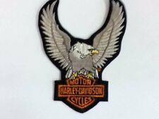 GENUINE MOTOR HARLEY DAVIDSON EAGLE W/ SHIELD PATCH SILVER