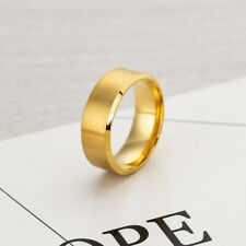 Stainless Steel Titanium Ring Men&Women Wedding Engagement Band Cool Size 6-13