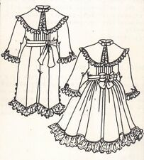 """Sewing doll clothes Pattern size 17 18"""" Dolls Brother & sister boy girl outfit"""