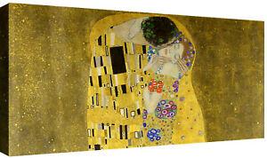 Quadri moderni Il Bacio di Klimt Quadro Stampa su tela cm 100x50 Arte soggiorno