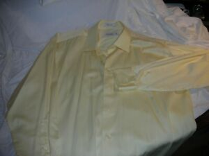 MENS  LONG SLEEVES  SHIRT BY Calvin Klein in Cream NEW Size 16.5 SL32/33  NEW