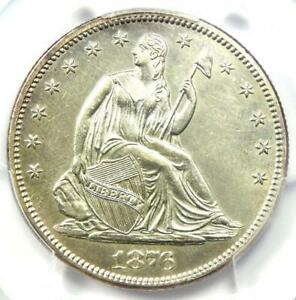 1876-S Seated Liberty Half Dollar 50C Coin - PCGS Uncirculated Detail (MS UNC)