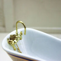 1:12 Dollhouse mini alloy bathtub faucet simulation water tap model toy B~ Jv