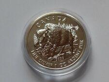 KANADA 2013  5 $  1 OZ  9999  SILVER  WILDLIFE  - BISON  UNCIRC.