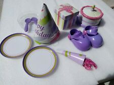 AMAZING AMANDA INTERACTIVE DOLL PARTY ACCESSORIES SHOES CAKE HATS HORN