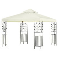 2-Tier 10'x10' Gazebo Canopy Shelter Patio Wedding Party Tent Awning Beige New