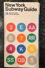 VINTAGE NEW YORK CITY TRANSIT SUBWAY MAP 1972 (2) MASSIMO VIGNELLI NYCTA EUC