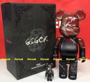Medicom Be@rbrick 2010 Gigor 10th Anniversary 400% + 100% Bearbrick boxset Kaws