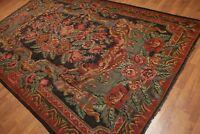"7'2"" x 11'6"" Vintage Hand Woven Floral Tribal Turkish Kilim 100% Wool Area Rug"