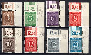 ex 913/924 OR W (Ziffern), Oberrand-Lot Walze, 8 Ecken oben rechts, postfrisch