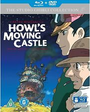 Howl's Moving Castle Blu Ray & DVD Combo Very Good Condition Studio Ghibli