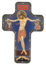 CRUCIFIXION - JESUS ON THE CROSS - WOODEN CROSS STATUES CANDLES PICTURES LISTED