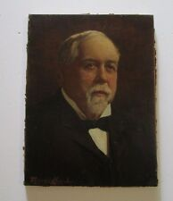 FREDERICK CROWELL PAINTING ANTIQUE FINE AMERICAN PORTRAIT 19TH CENTURY LISTED