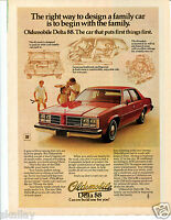 1978 Print Ad of GM Oldsmobile Olds Delta 88 Red Car Tennis Family