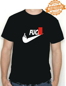 Spoof NIKE T-Shirt Tee / F*** Nike / Middle Finger / Rude / Funny / BBQ / S-XXL